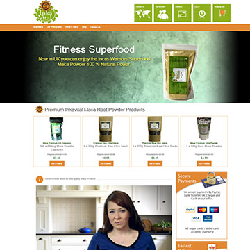 Magento e-commerce natural food shop