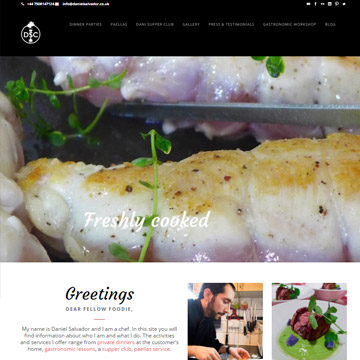 Wordpress for professional gourmet website